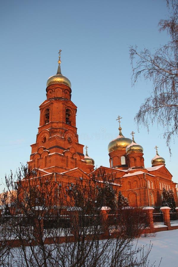 Rosja Mordovia republika kościół St Nicholas w Saransk zdjęcia stock