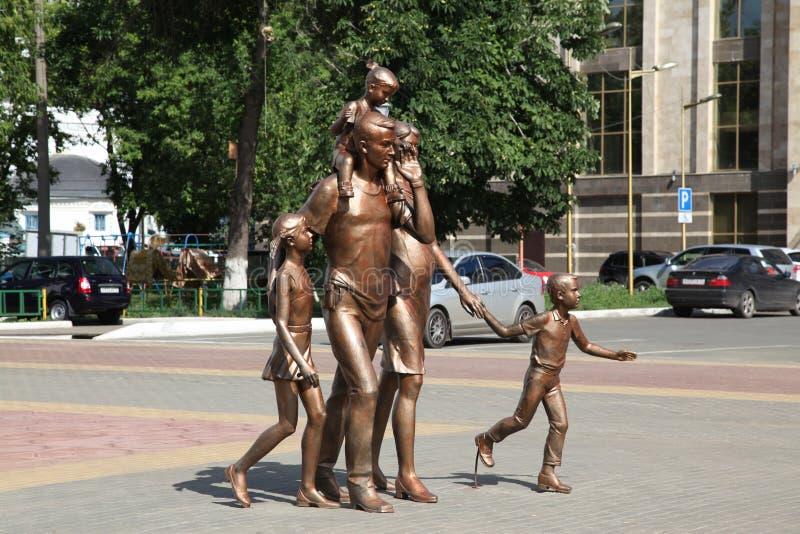 Rosja Mordovia republiki Saransk miasta veiw rzeźba rodzina fotografia royalty free