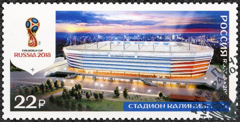 ROSJA - 2017: pokazuje stadium w Kaliningrad, arena Baltika, serii stadia, 2018 Futbolowych puchar świata Rosja obraz royalty free