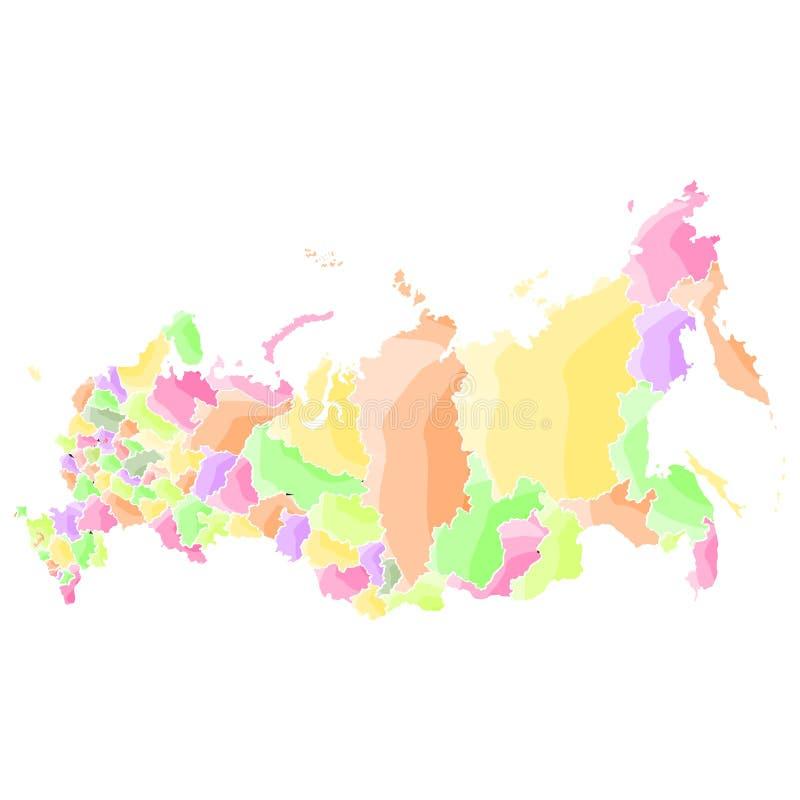 Rosja Polityczna mapa royalty ilustracja