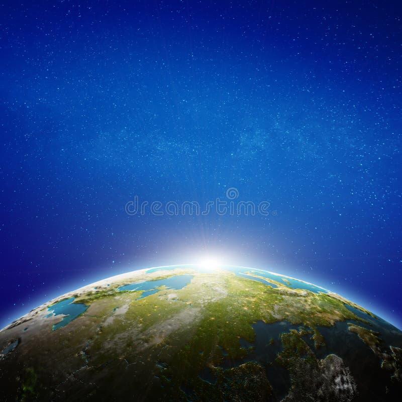 Rosja przestrzeni widok ilustracji