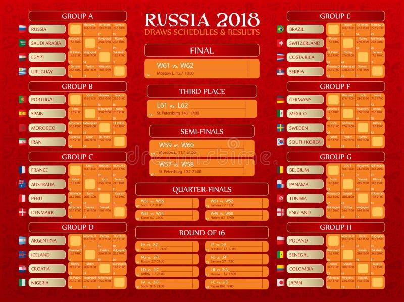 Rosja pucharu świata rozkład zajęć royalty ilustracja