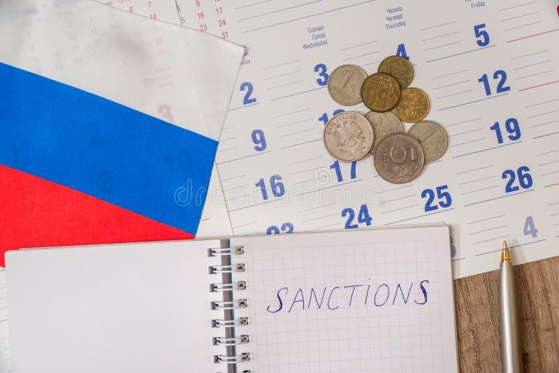 Rosja sankcje fotografia stock