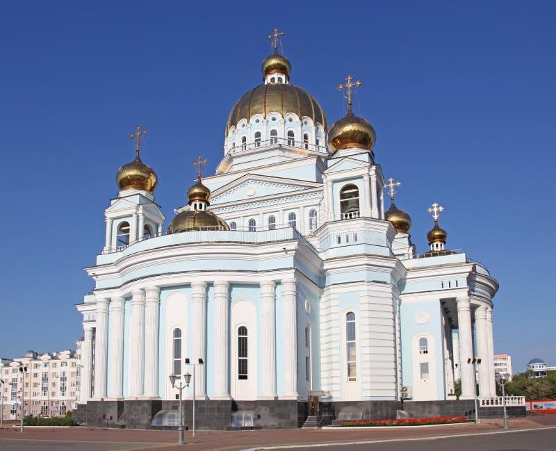 Rosja. Saransk. St. Theodor Ushakov ` s katedra zdjęcie stock
