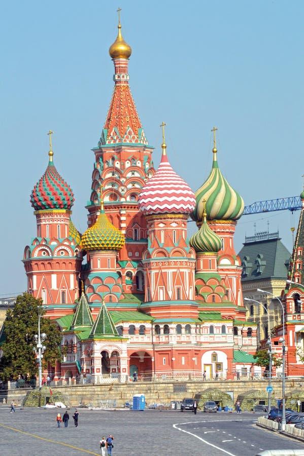 Rosja St basilu katedra Moskwa placu czerwonego Kremlowski światło słoneczne zdjęcie stock