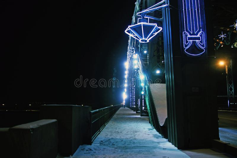 Rosja, St Petersburg, Bolsheokhtinsky most zdjęcia stock