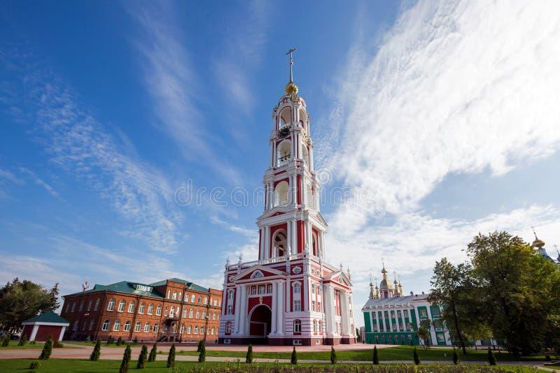 Rosja Tambov Dzwonkowy wierza Kazan monaster obrazy stock