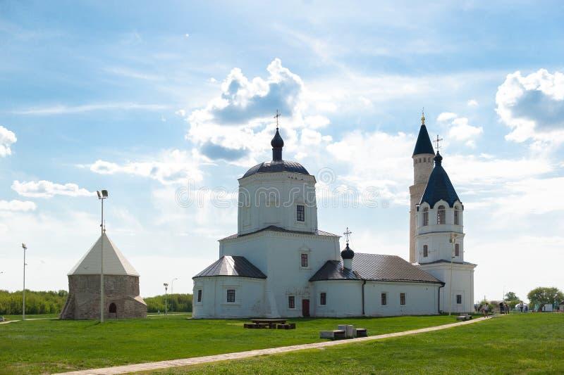 Rosja, Tatarstan ryps - 05 11 2019, widok na Bolgar kompleksie, Dziejowym i Archeologicznym zdjęcie stock