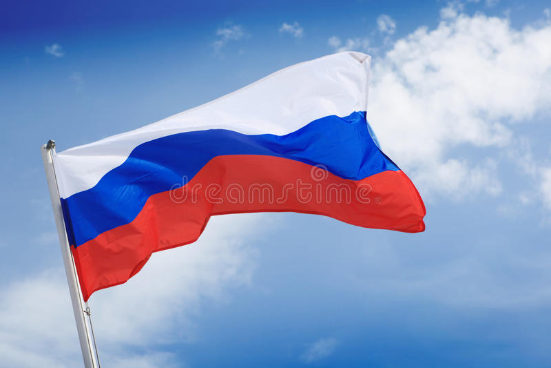Rosjanin flaga fotografia royalty free