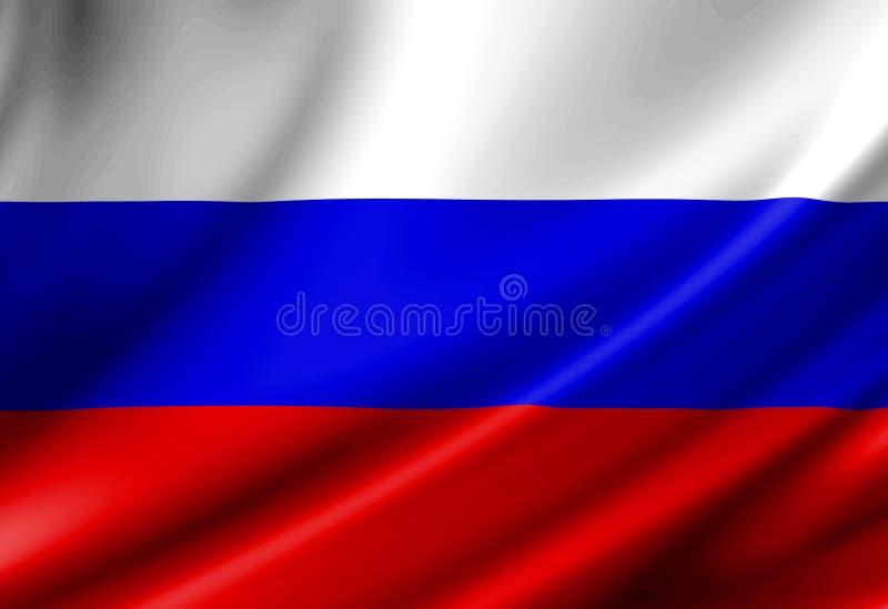 Rosjanin flaga ilustracji