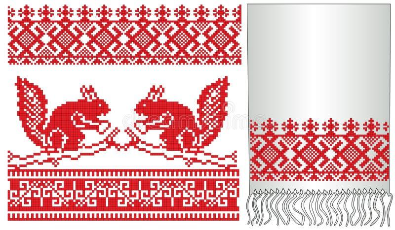 rosjanin ludowa stara wiewiórka ilustracja wektor