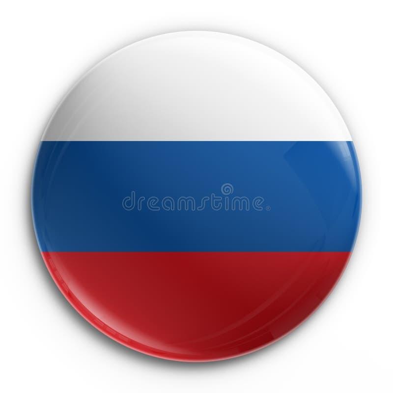 rosjanin odznaka bandery royalty ilustracja
