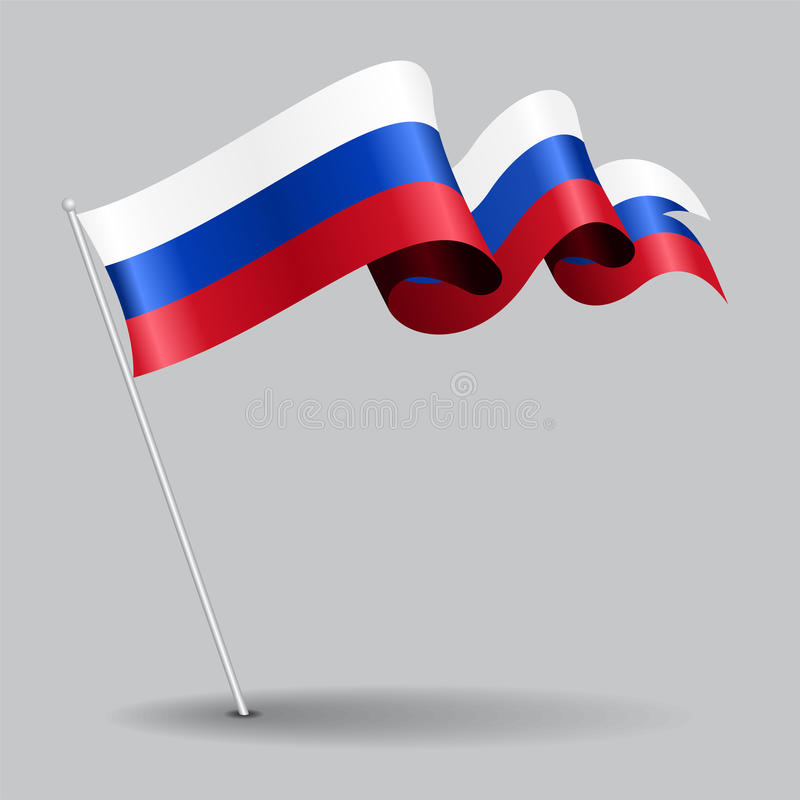 Rosjanin wałkowa falista flaga również zwrócić corel ilustracji wektora royalty ilustracja