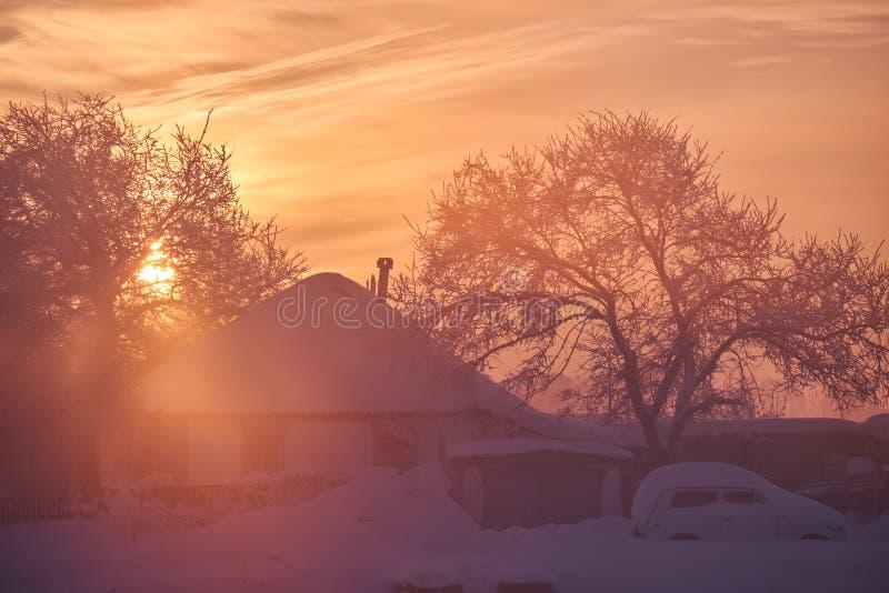 Rosjanina Altai wioska Urozhainoe przy ranku czasem z zadziwiać fotografia royalty free