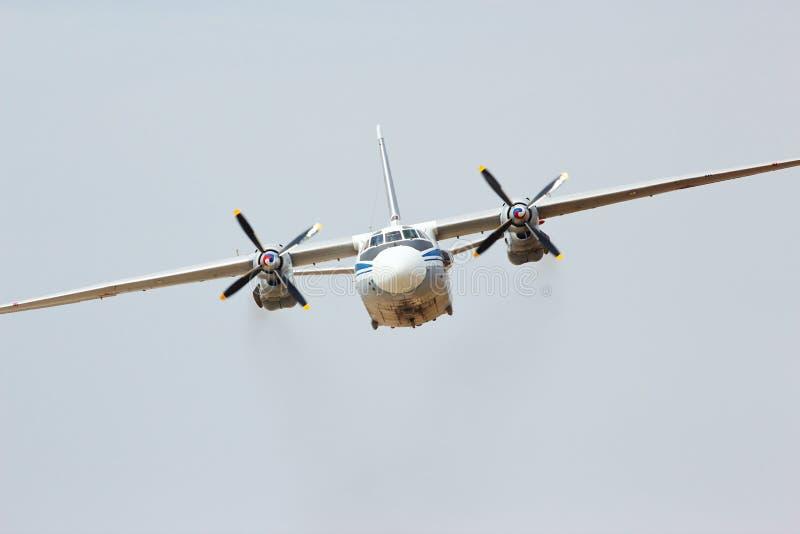 Rosjanina samolot przewieziony turbośmigłowy AN-26 fotografia royalty free
