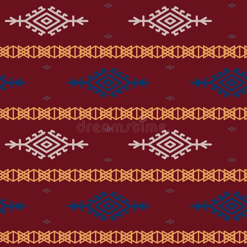 Rosjanina, ukraińskiego i scandinavian krajowy dzianina wzór, bezszwowa wektorowa ilustracja royalty ilustracja