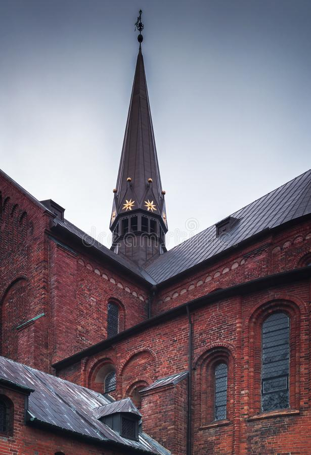 Free Roskilde Cathedral Spire Stock Photos - 135792703