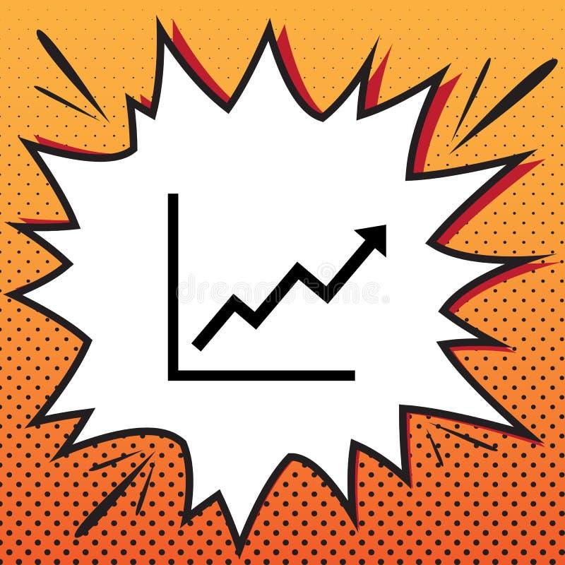 Rosnąć bar grafiki znaka wektor Komiczki projektują ikonę na sztuce ilustracja wektor