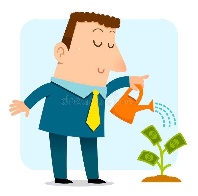 rosnąca pieniądze ilustracja wektor