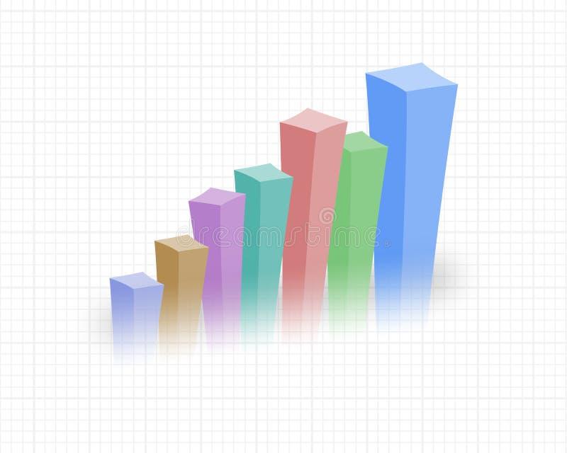 rosnące statystyki ilustracja wektor
