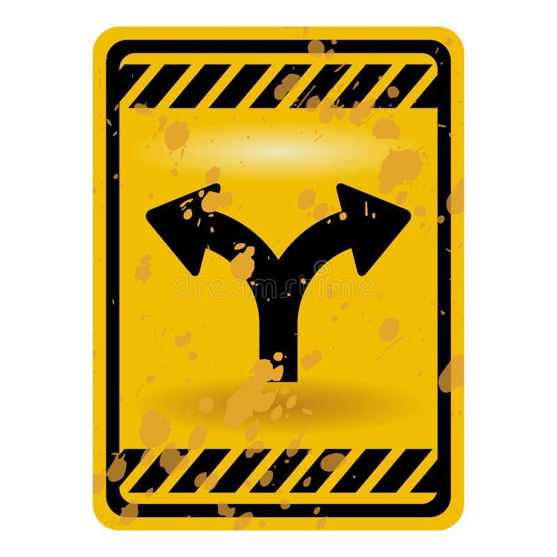 rosochaty drogowy znak royalty ilustracja