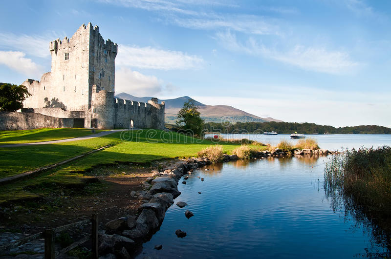 Ross castle, Co. Kerry, Ireland. stock photos