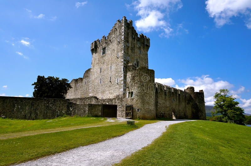 Ross castle in killarney stock photography