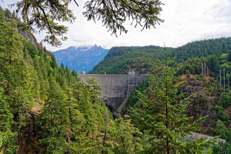 Ross Dam in North Cascades National Park royalty free stock photo