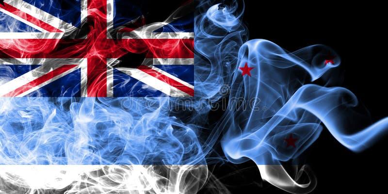 Ross Dependency rökflagga, ny Zaeland beroende territoriumflagga royaltyfri illustrationer