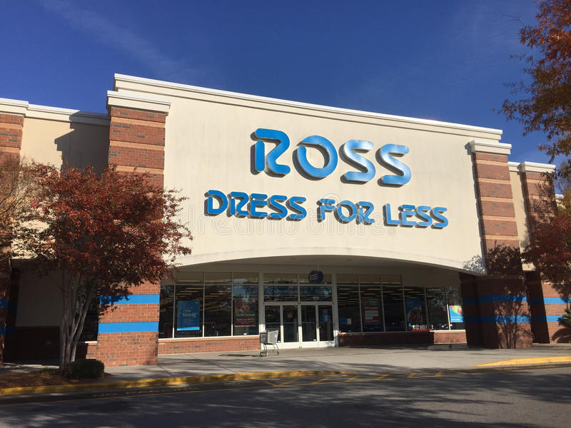 Ross Dress para menos tienda foto de archivo libre de regalías