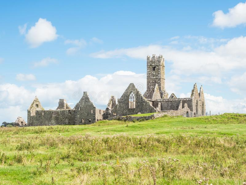 Ross Errilly Friary. Founded in 1351 and situated near Headford in County Galway, Ross Errilly Friary is one of the best-preserved medieval monastic sites in in stock photos