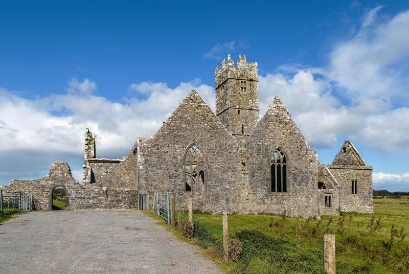 Ross Errilly Friary, Ireland. Ross Errilly Friary is a medieval Franciscan friary located about a mile to the northwest of Headford, County Galway, Ireland stock photos