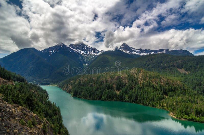 Ross Lake, Washington State stock afbeeldingen