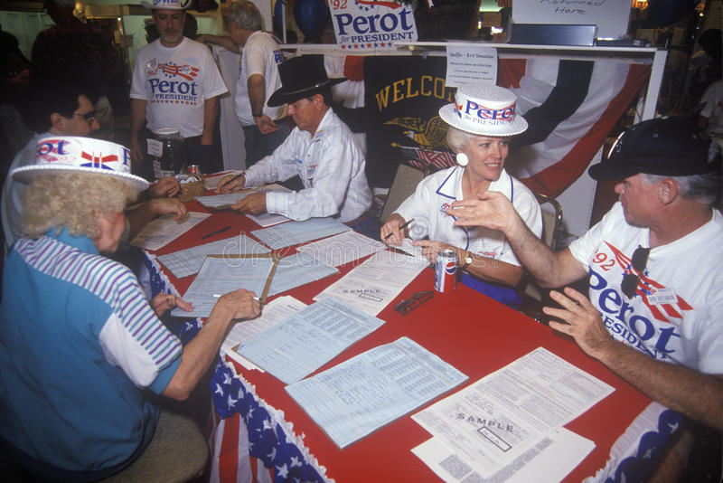 Ross Perot for President petition drive