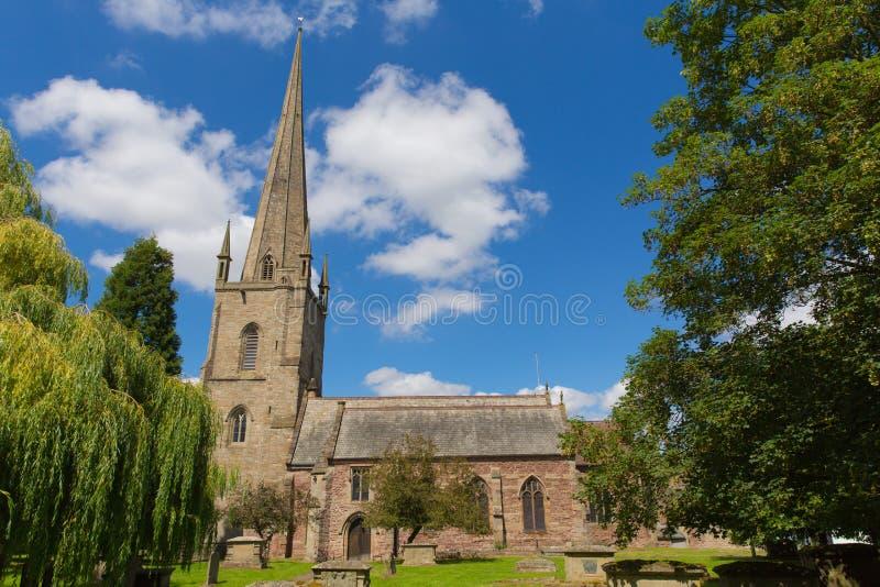 Ross-sur-montage en étoile d'église du ` s de St Mary dans la vallée Herefordshire Angleterre R-U de montage en étoile photos stock