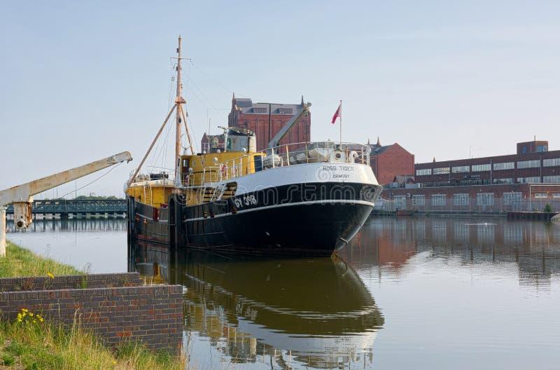 Ross Tiger Museo flotante Devanadera lateral que pesca el barco rastreador imágenes de archivo libres de regalías