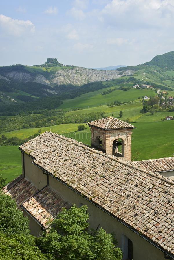 Apennines. Rossena Re, italy, a view of the mountains of Apennines stock images