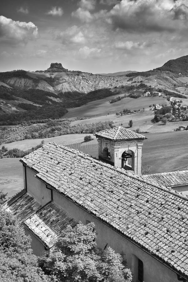 Apennines. Rossena Re, italy, a view of the mountains of Apennines stock photo