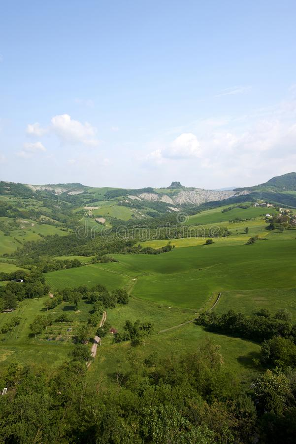 Apennines. Rossena Re, italy, a view of the mountains of Apennines stock photos