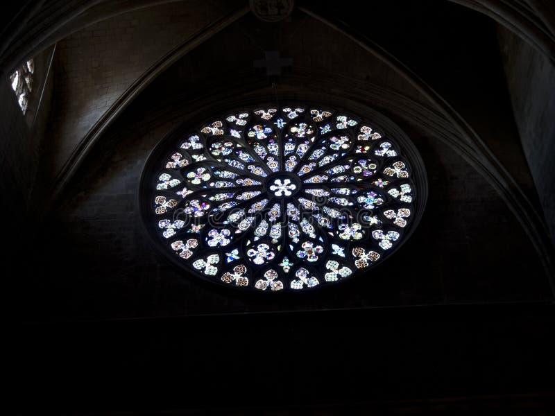 Rossette de Santa Maria del Pi, Barcelone. photographie stock