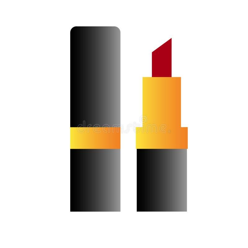Rossetto di web, rossetto, rossetto isolato illustrazione vettoriale