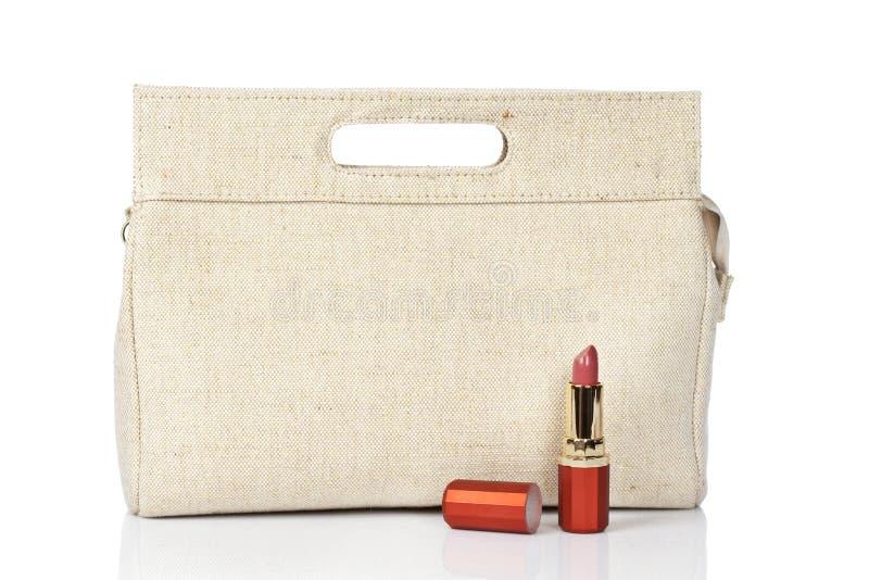Download Rossetto e borsa immagine stock. Immagine di retail, rossetto - 7304401