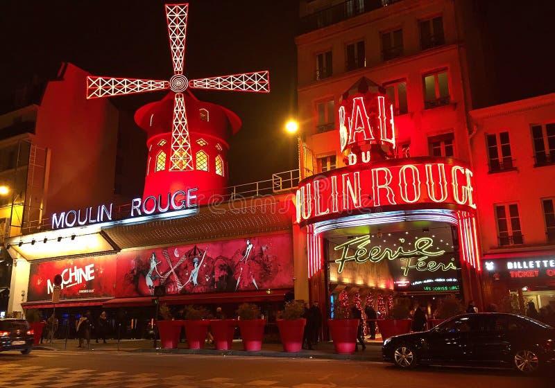 Rossetto Parigi di Moulin fotografia stock libera da diritti