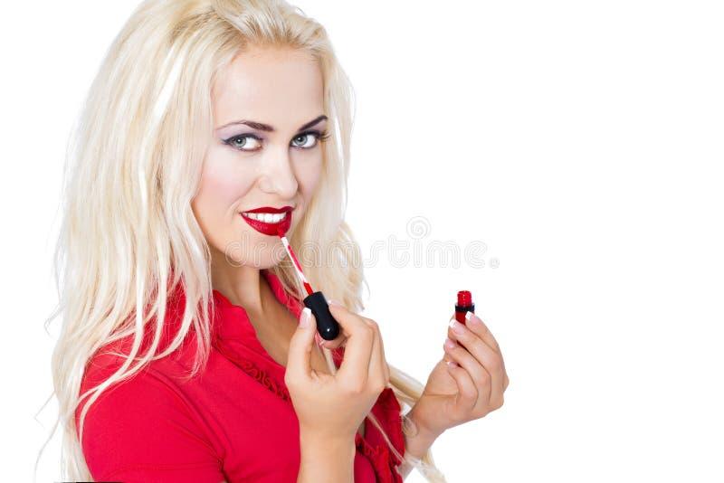 Rossetto rosso fotografia stock libera da diritti