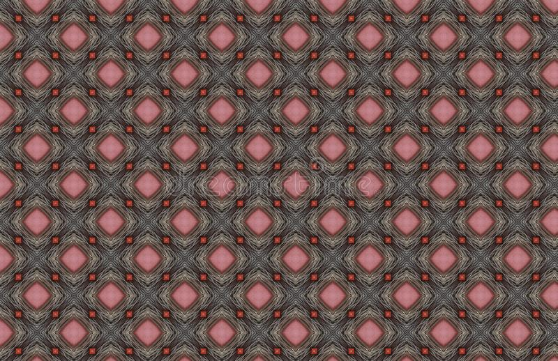 Rossi carmini Gray Wire Geometric Pattern Design royalty illustrazione gratis