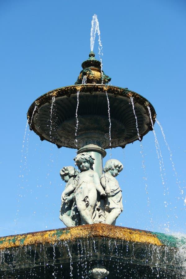 Rossio Fountain stock photo