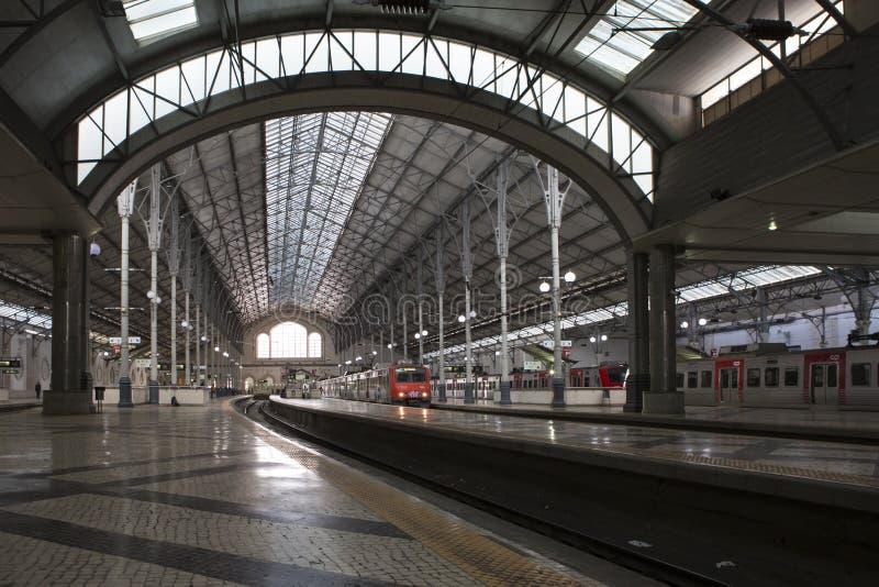 Rossio järnvägsstation i Lissabon på 29 Oktober, 2018 fotografering för bildbyråer