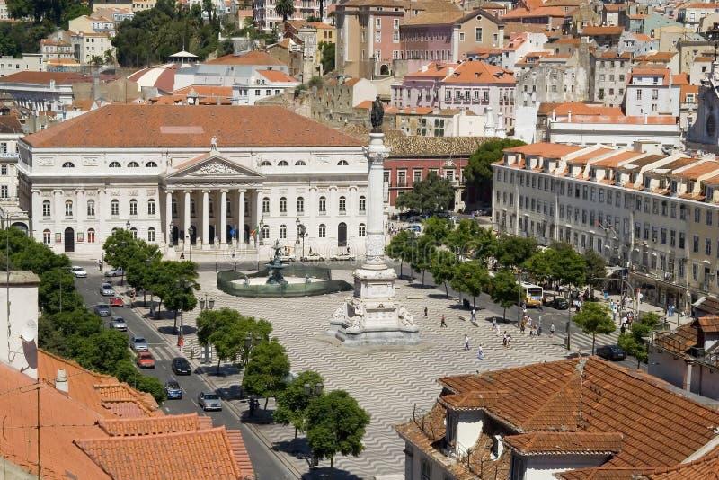Rossio, Lissabon royalty-vrije stock afbeelding
