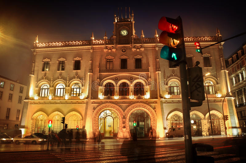 Download Rossio Train Station stock photo. Image of daylight, detail - 24733804