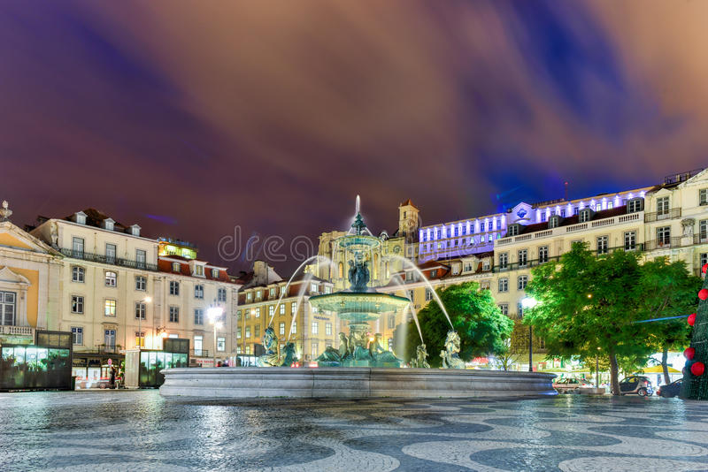 Rossiovierkant - Lissabon, Portugal stock afbeeldingen